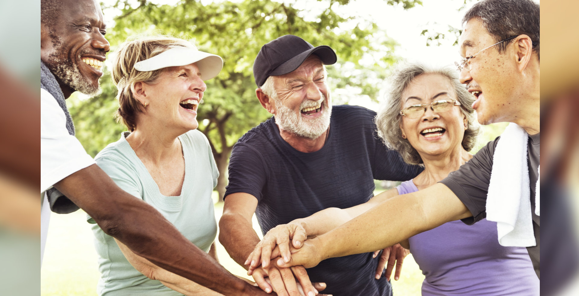 Group Of Senior Retirement Exercising Togetherness Concept.